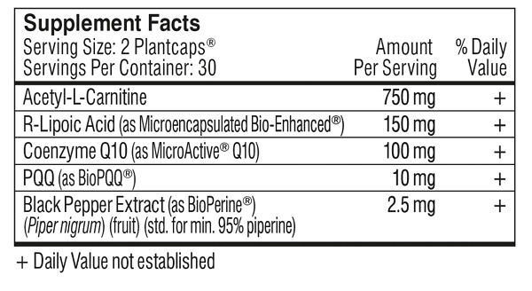 performance lab energy ingredients list