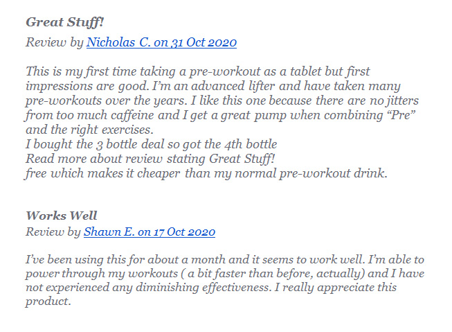 performance lab energy reviews from customers