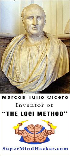 loci method invented by Marcos Tulio Cicero