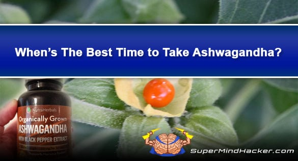 When is The Best Time to Take Ashwagandha? Morning VS Night
