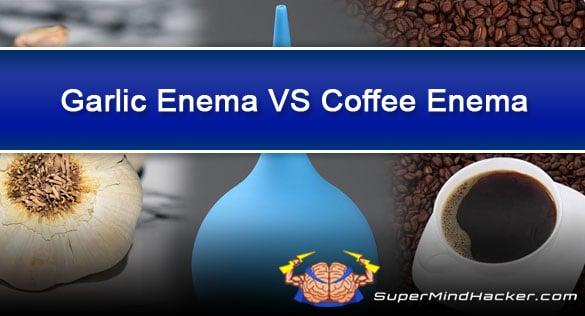 garlic enema vs coffee enema